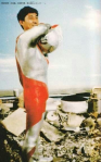 Ultraman (1966-1967) suit actor Bin Furuya unmasked.